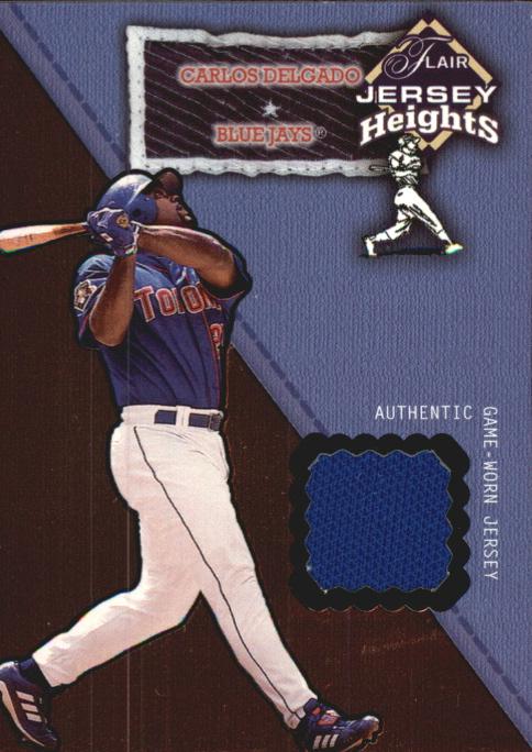 2002 Flair Jersey Heights #7 Carlos Delgado