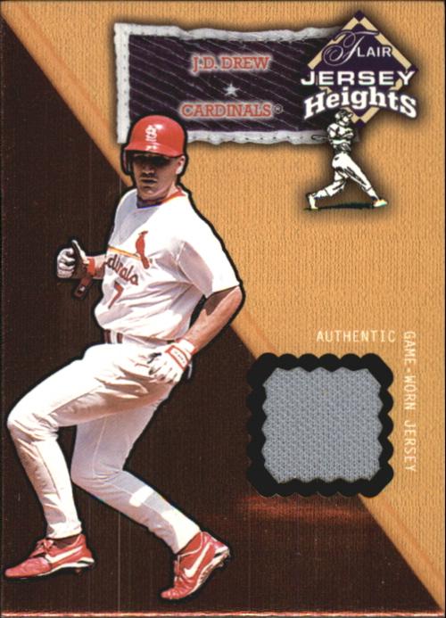 2002 Flair Jersey Heights #8 J.D. Drew SP