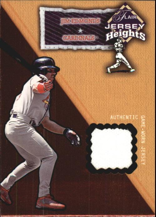 2002 Flair Jersey Heights #9 Jim Edmonds *