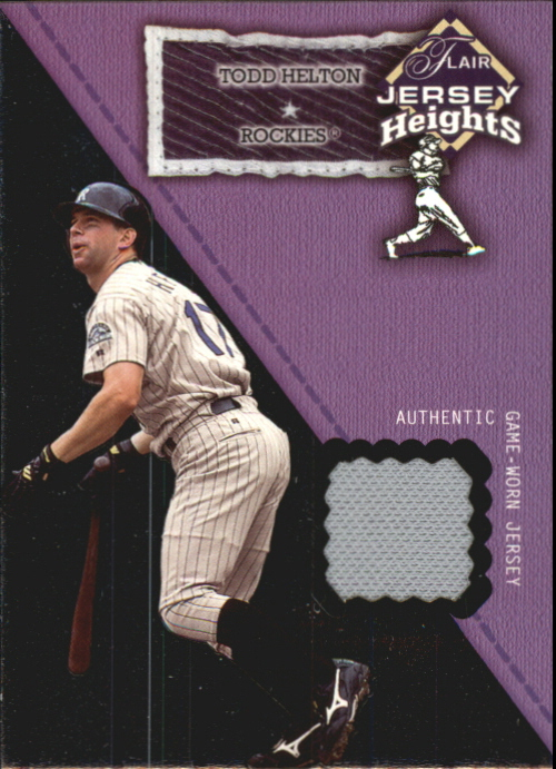 2002 Flair Jersey Heights #12 Todd Helton