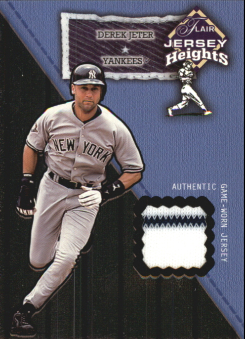 2002 Flair Jersey Heights #13 Derek Jeter *