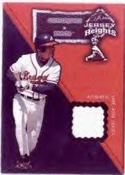 2002 Flair Jersey Heights #15 Chipper Jones *