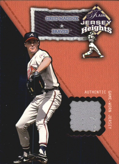 2002 Flair Jersey Heights #17 Greg Maddux SP