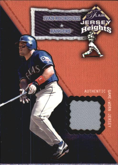 2002 Flair Jersey Heights #23 Ivan Rodriguez *