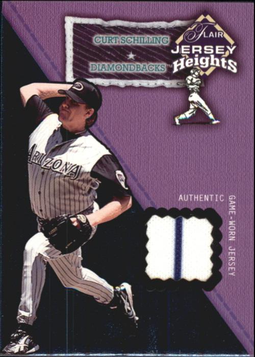 2002 Flair Jersey Heights #24 Curt Schilling *