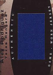 2002 Flair Sweet Swatch #15 Alex Rodriguez/550
