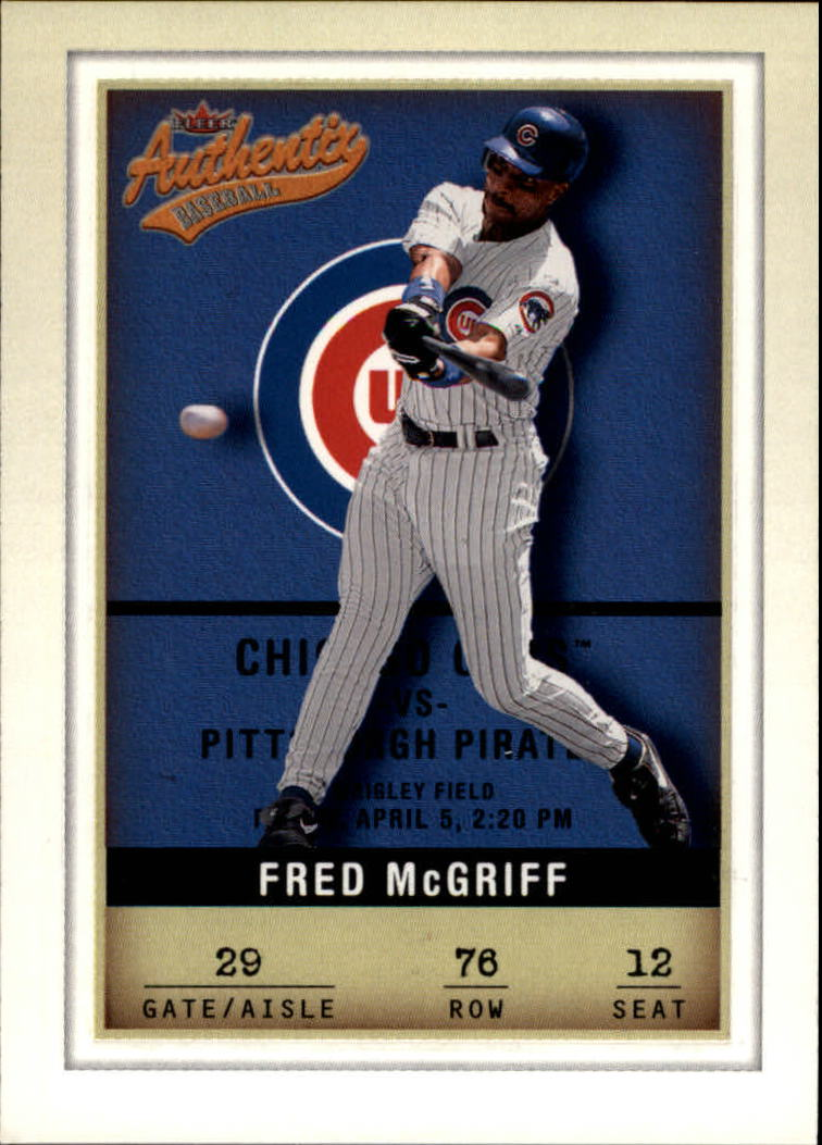 2002 Fleer Authentix #76 Fred McGriff