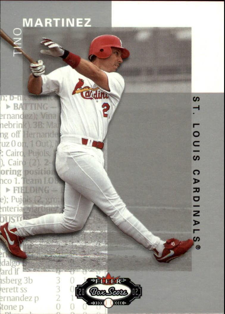 2002 Fleer Box Score #7 Tino Martinez