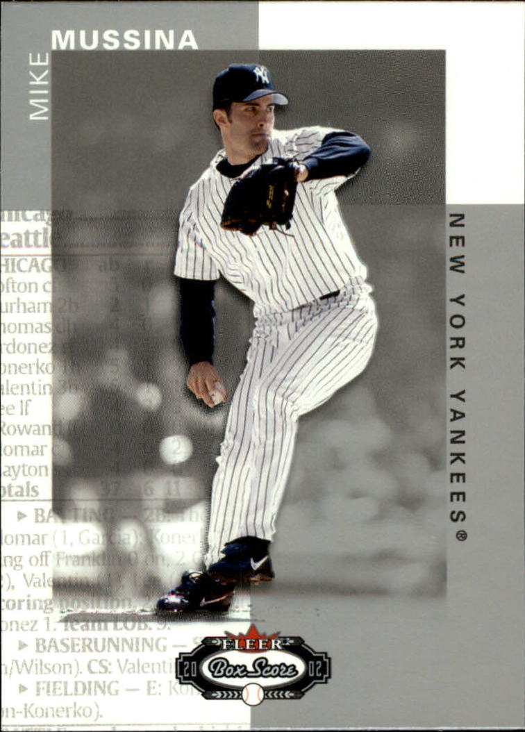 2002 Fleer Box Score #15 Mike Mussina