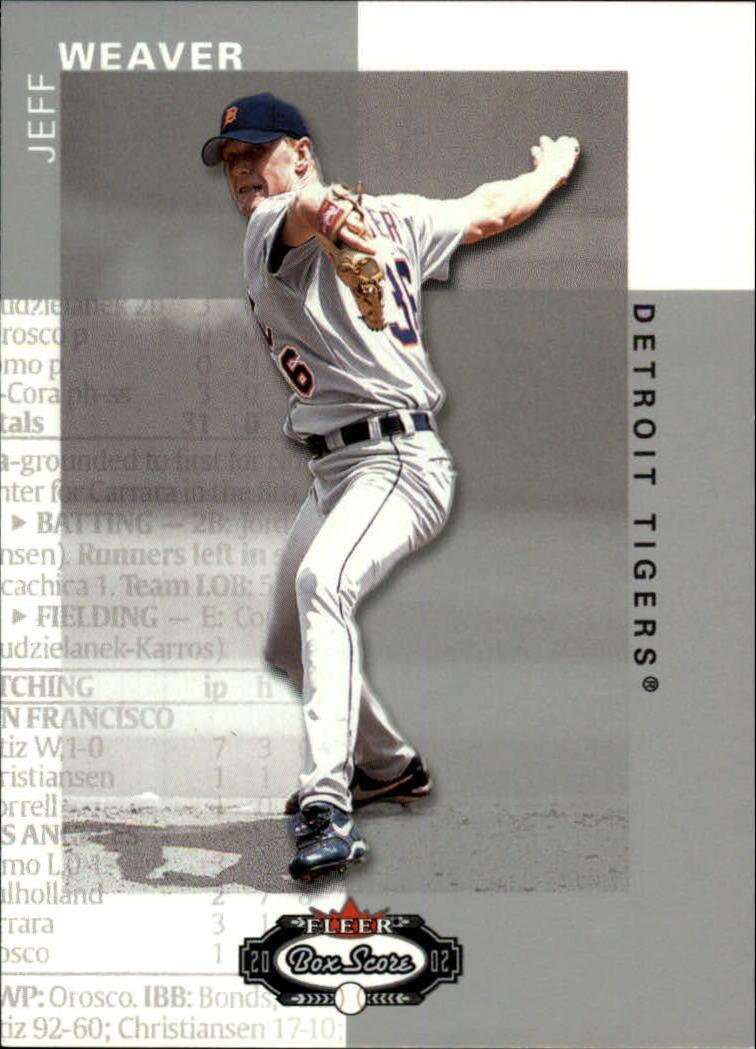 2002 Fleer Box Score #23 Jeff Weaver