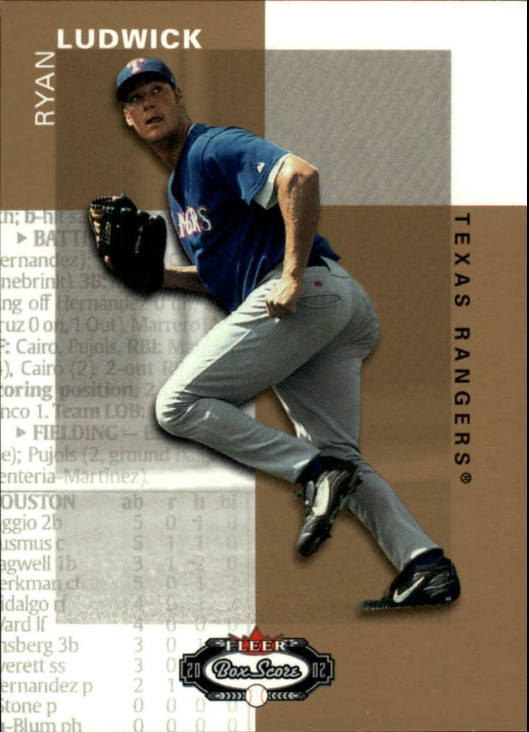 2002 Fleer Box Score #128 Ryan Ludwick RP