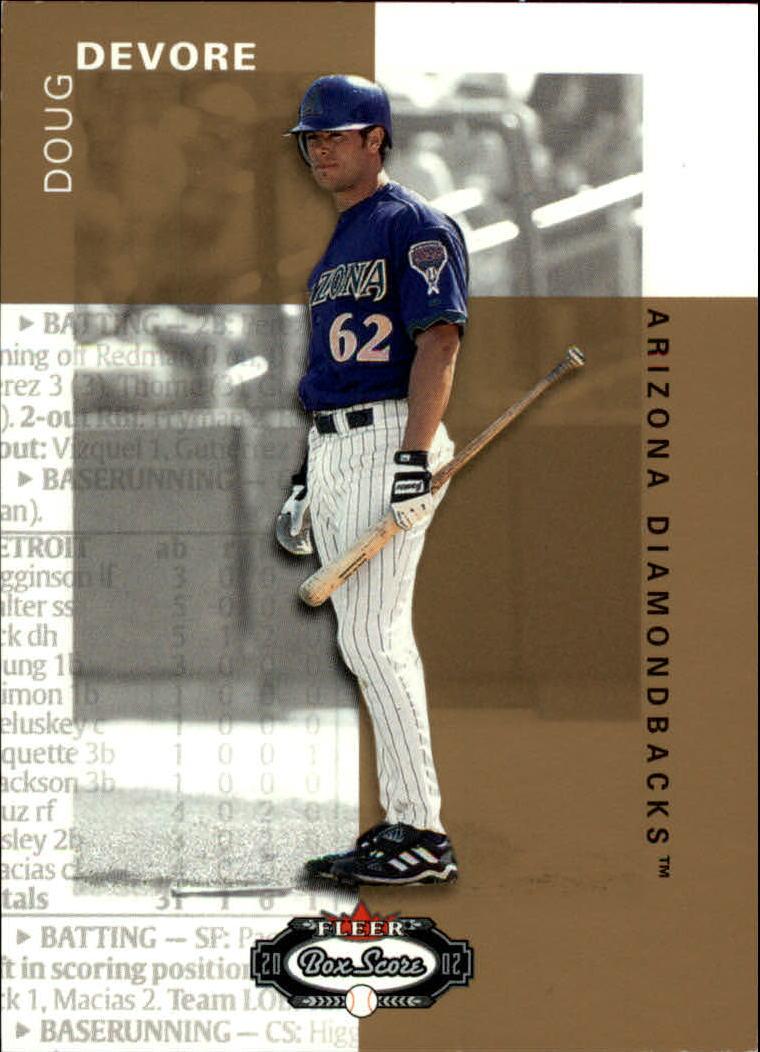 2002 Fleer Box Score #134 Doug Devore RP RC