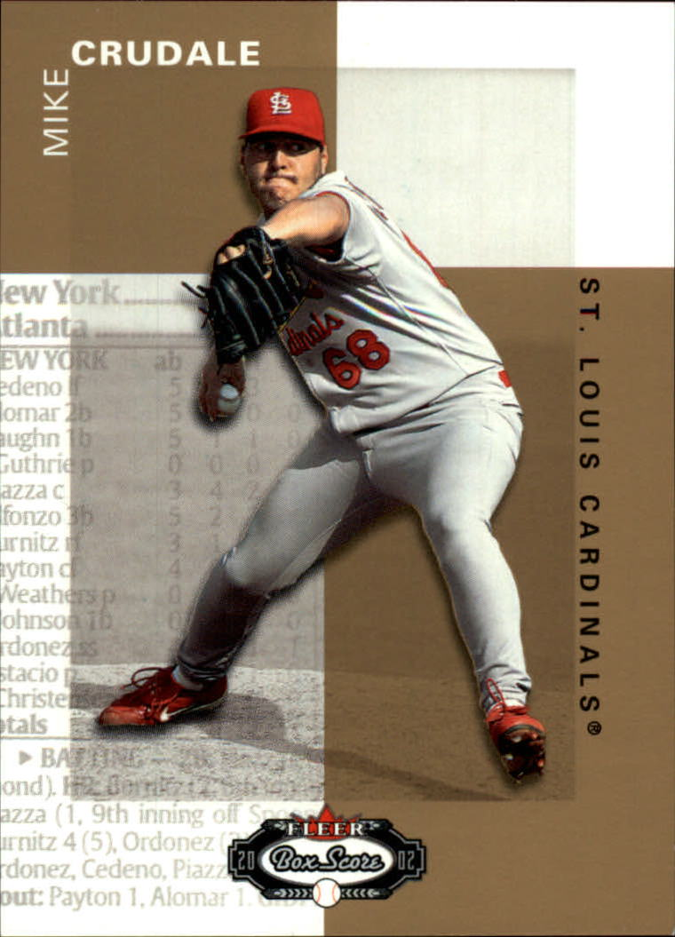 2002 Fleer Box Score #139 Mike Crudale RP RC