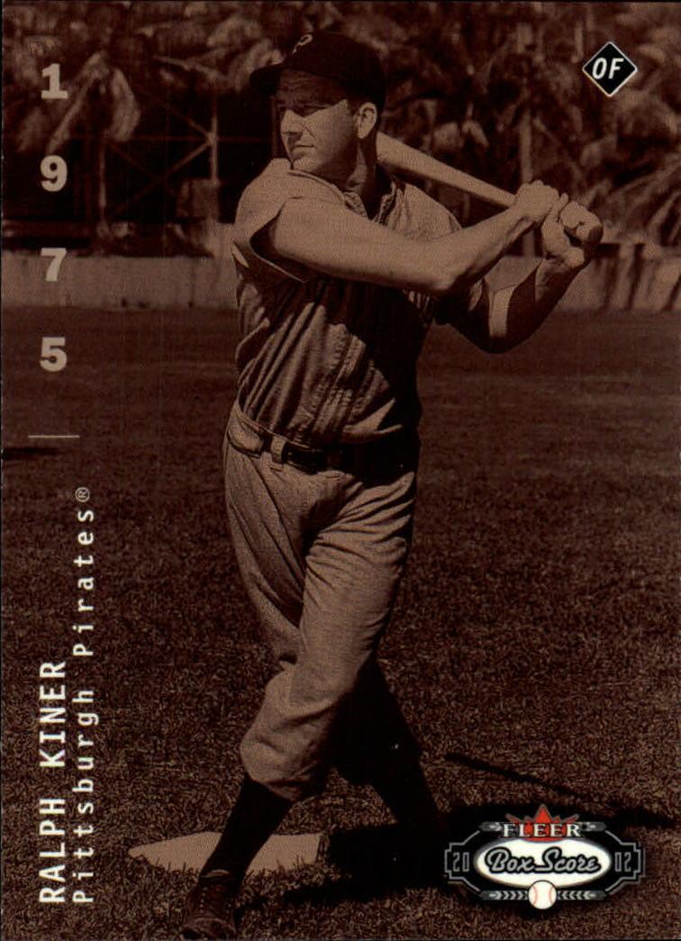2002 Fleer Box Score #297 Ralph Kiner CT