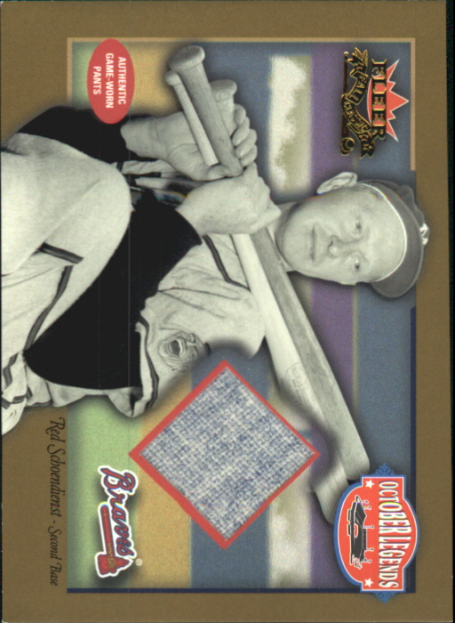2002 Fleer Fall Classics October Legends Game Used Gold #RS Red Schoendienst Pants