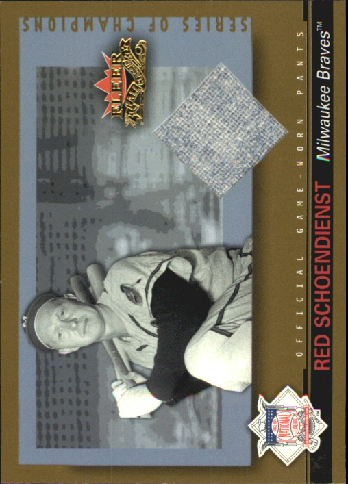 2002 Fleer Fall Classics Series of Champions Game Used Gold #RS Red Schoendienst Pants