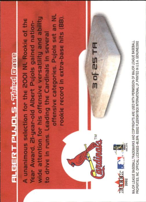 2002 Fleer Genuine Touch Em All #3 Albert Pujols back image