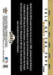 2002 Fleer Tradition Update #U386 Barry Bonds TT back image