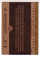 2002 Fleer Tradition Update #U393 Pat Burrell TT back image