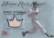2002 Fleer Triple Crown Home Run Kings Game Used #7 Eddie Mathews Bat