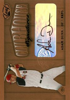 2002 Leaf Clubhouse Signatures Bronze #1 Adam Dunn/200