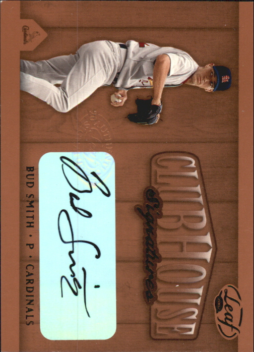 2002 Leaf Clubhouse Signatures Bronze #10 Bud Smith/200