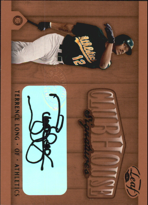 2002 Leaf Clubhouse Signatures Bronze #30 Terrence Long/250