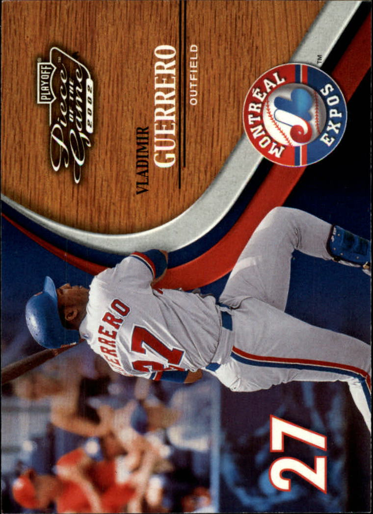 2002 Playoff Piece of the Game #1 Vladimir Guerrero