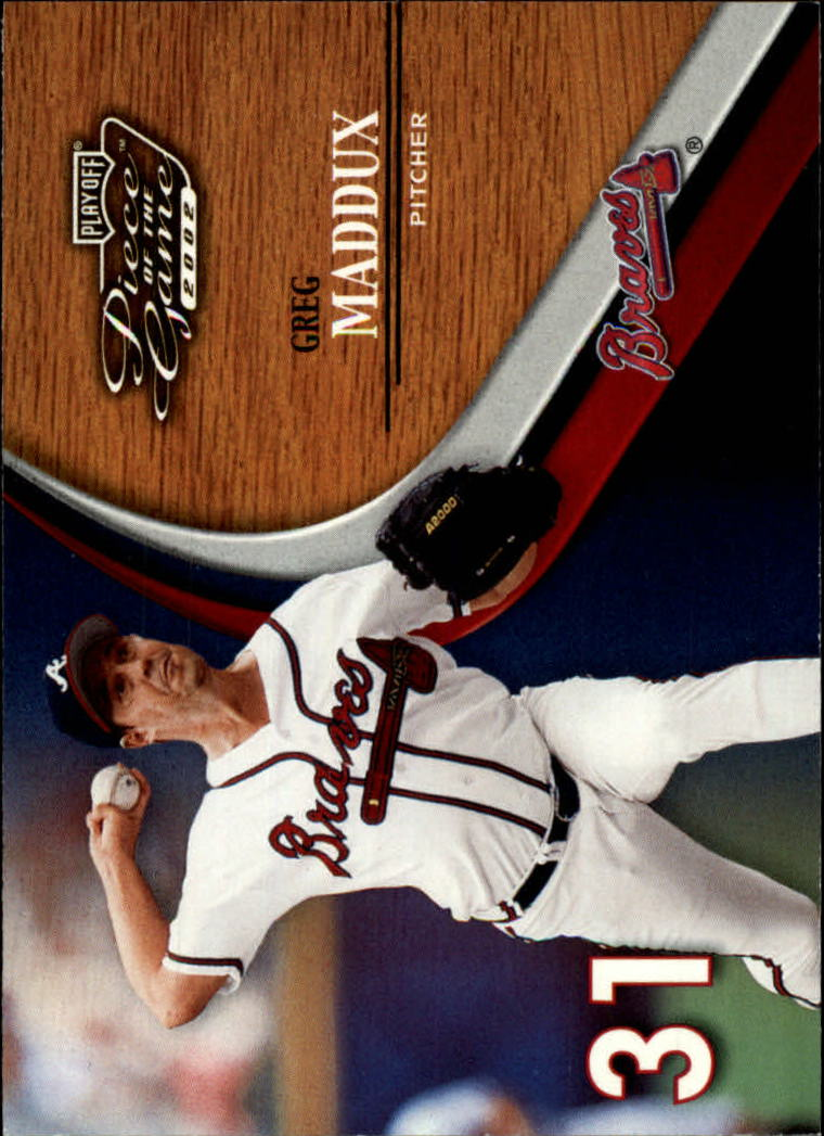 2002 Playoff Piece of the Game #10 Greg Maddux