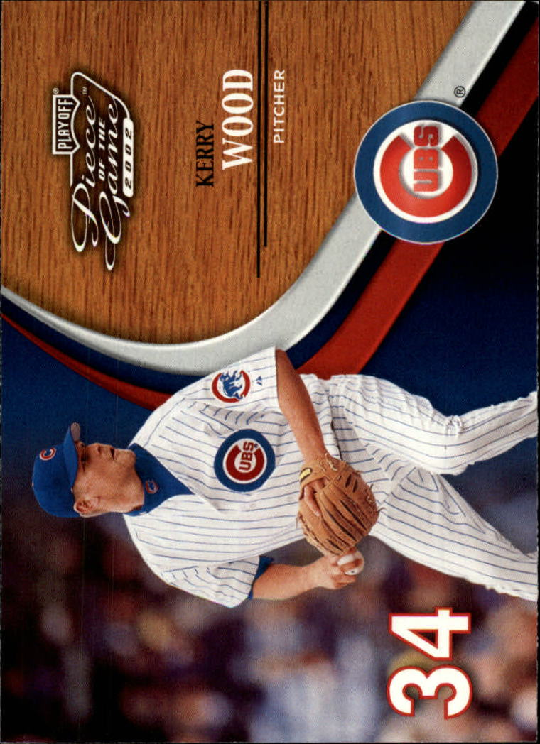 2002 Playoff Piece of the Game #14 Kerry Wood