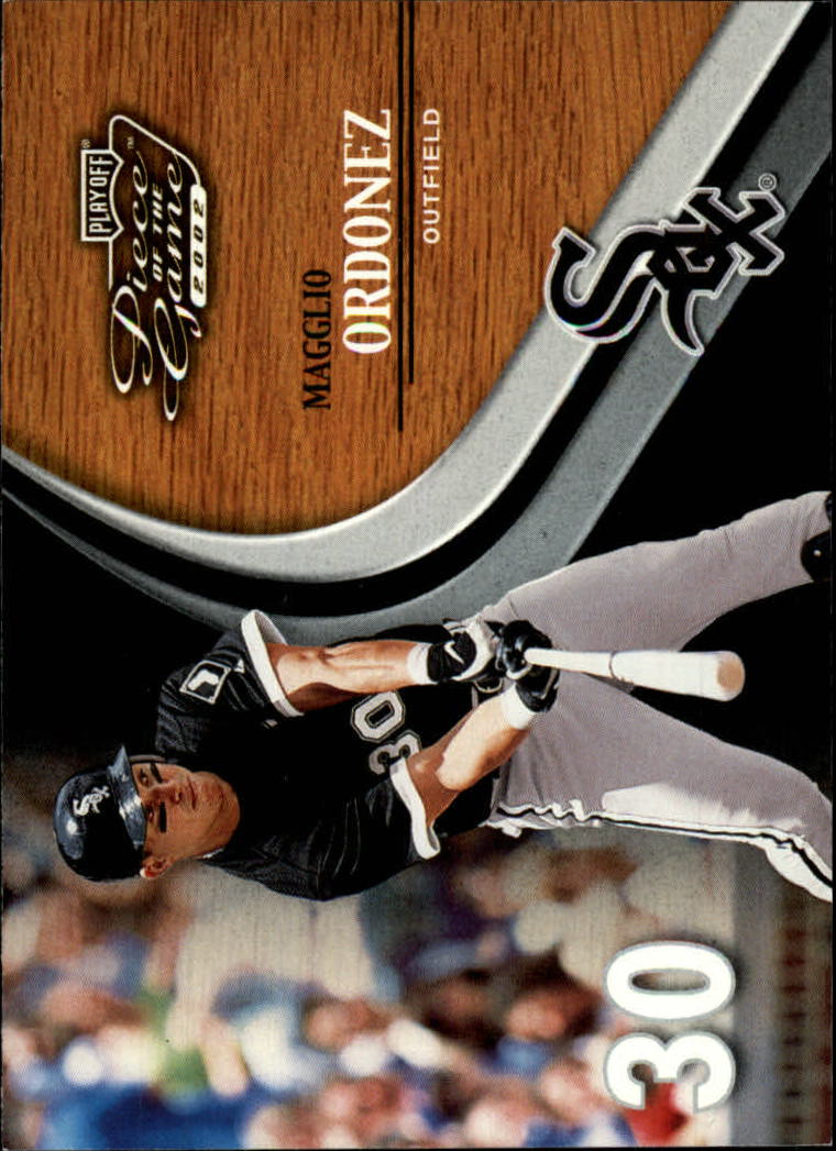 2002 Playoff Piece of the Game #18 Magglio Ordonez