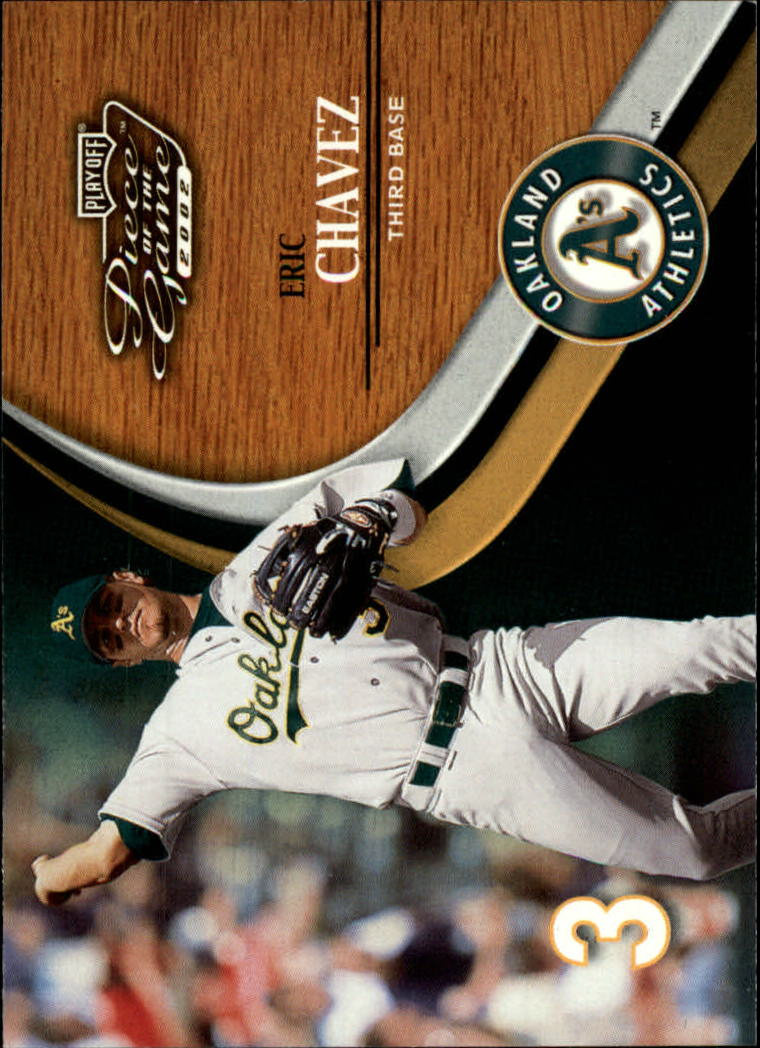 2002 Playoff Piece of the Game #21 Eric Chavez