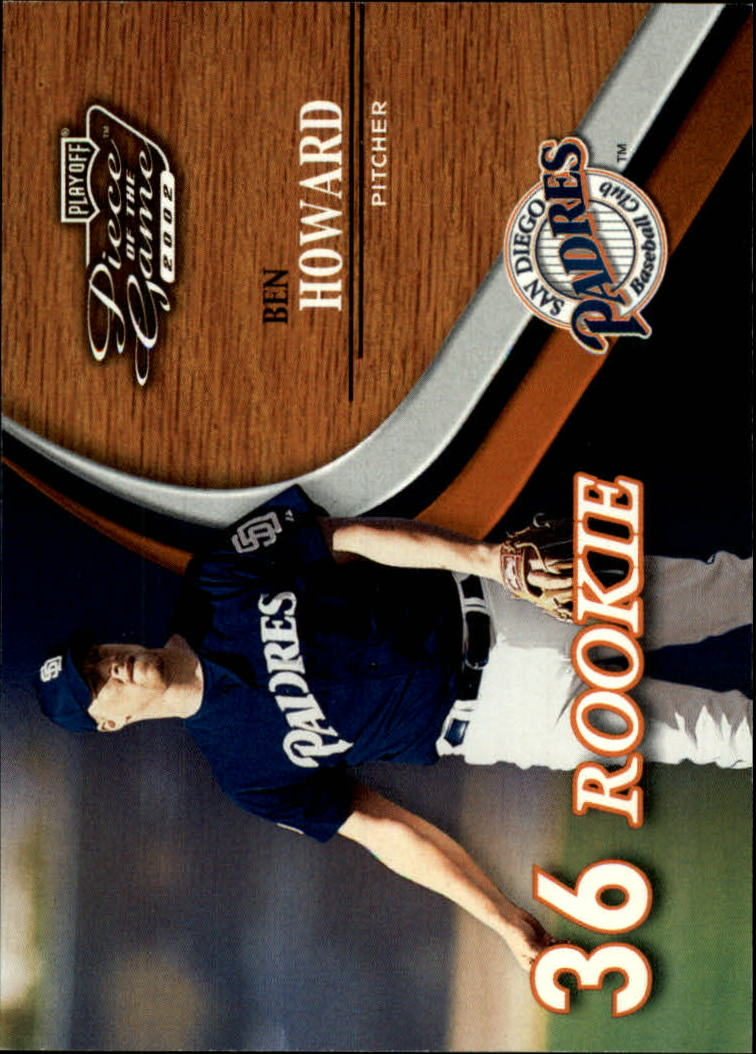 2002 Playoff Piece of the Game #54 Ben Howard ROO RC