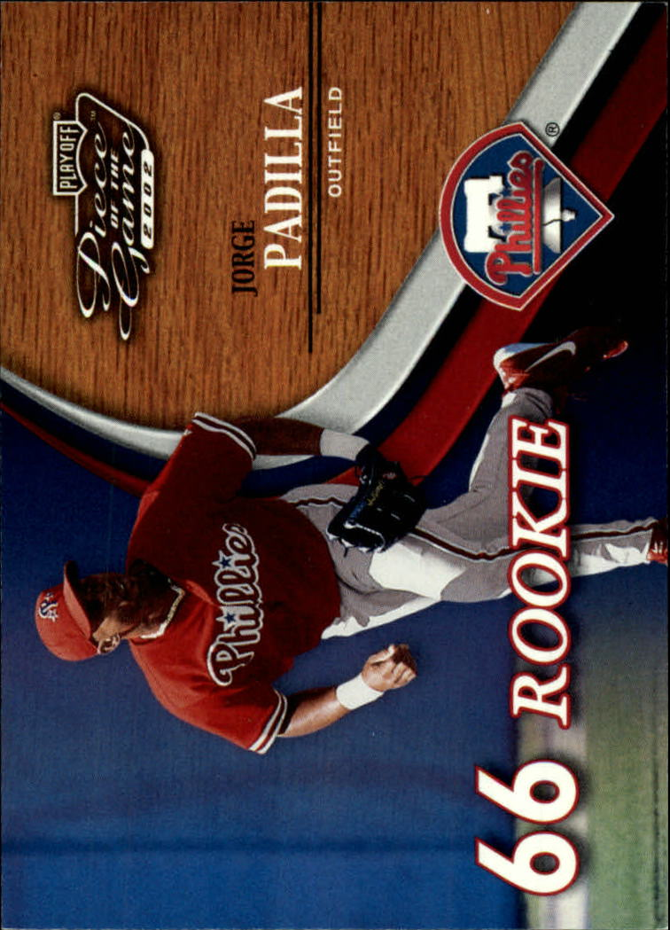 2002 Playoff Piece of the Game #57 Jorge Padilla ROO RC