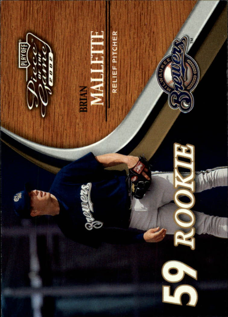 2002 Playoff Piece of the Game #59 Brian Mallette ROO RC