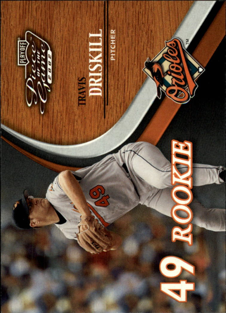 2002 Playoff Piece of the Game #61 Travis Driskill ROO RC