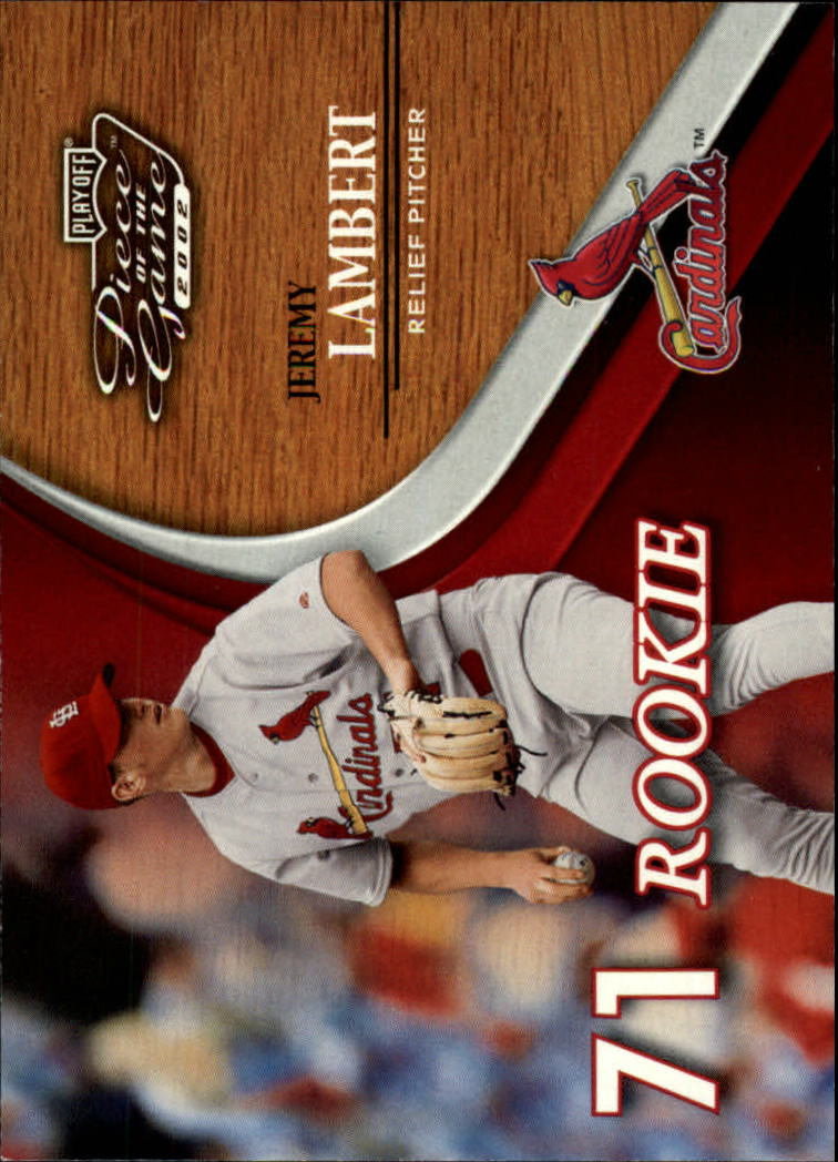 2002 Playoff Piece of the Game #62 Jeremy Lambert ROO RC