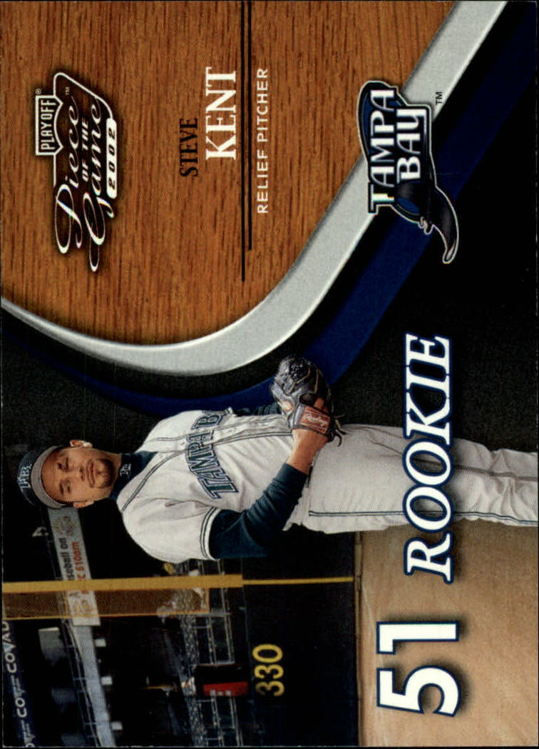 2002 Playoff Piece of the Game #63 Steve Kent ROO RC