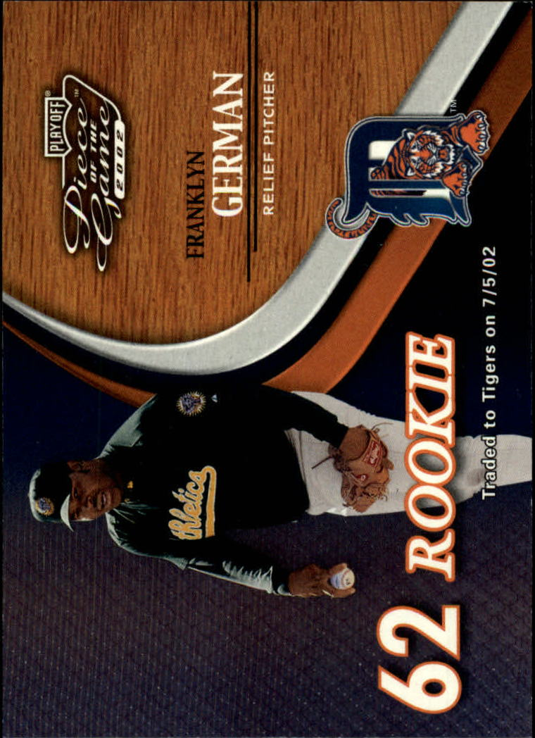 2002 Playoff Piece of the Game #67 Franklyn German ROO RC