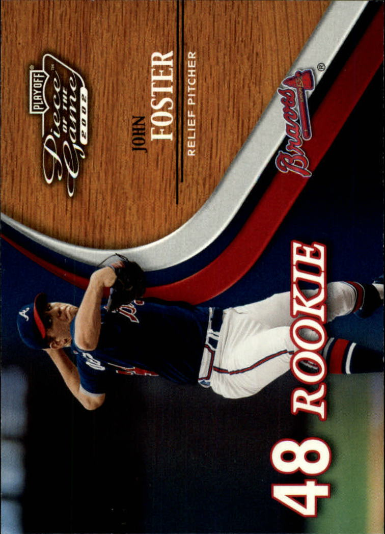 2002 Playoff Piece of the Game #68 John Foster ROO RC