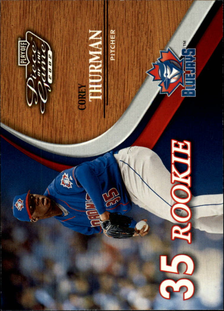 2002 Playoff Piece of the Game #75 Corey Thurman ROO RC