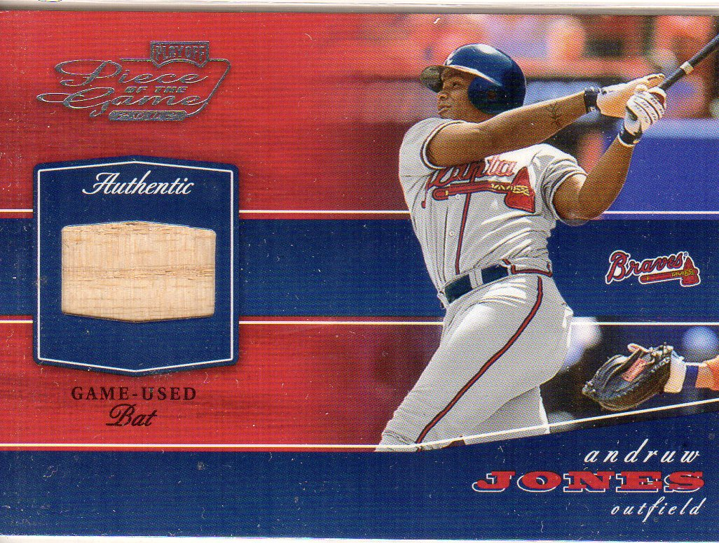 2002 Playoff Piece of the Game Materials #7A Andruw Jones Bat