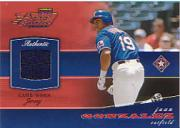 2002 Playoff Piece of the Game Materials #10A Juan Gonzalez Jsy
