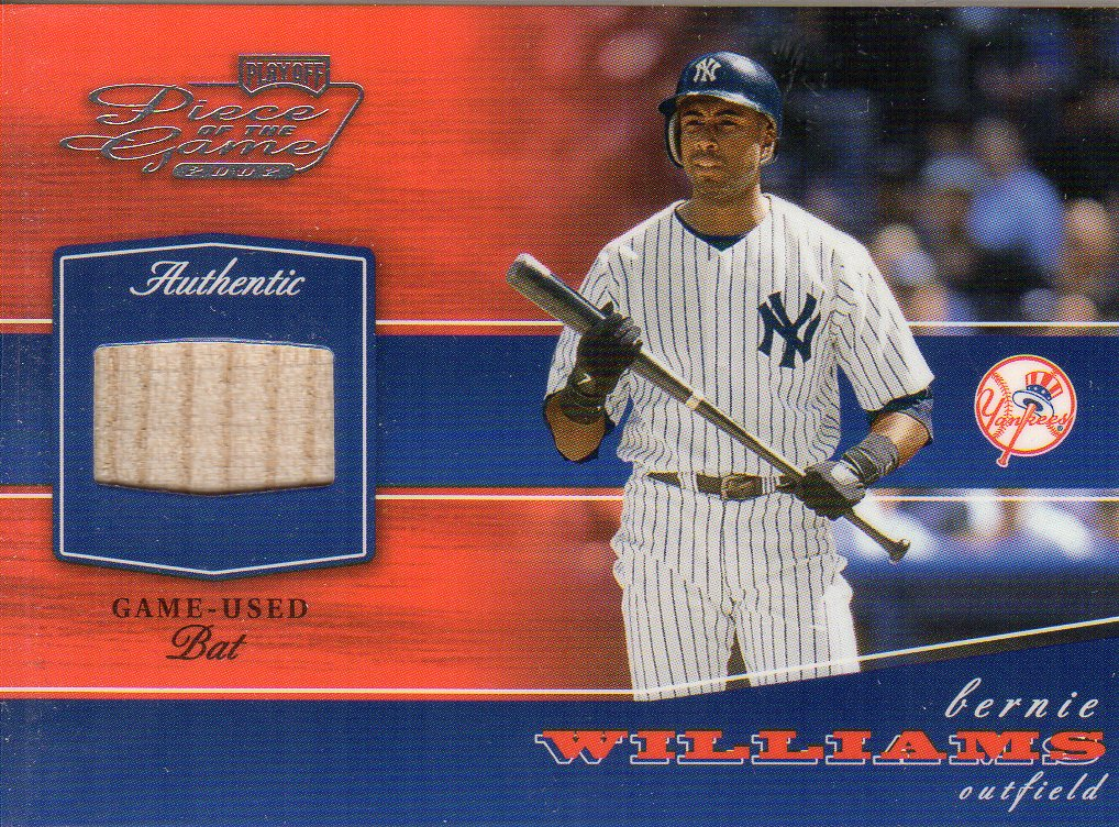 2002 Playoff Piece of the Game Materials #11A Bernie Williams Bat