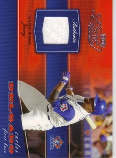 2002 Playoff Piece of the Game Materials #12A Carlos Delgado Jsy