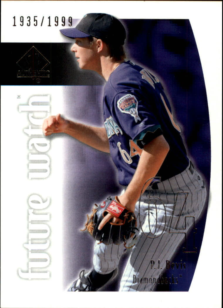 2002 SP Authentic #107 P.J. Bevis FW RC