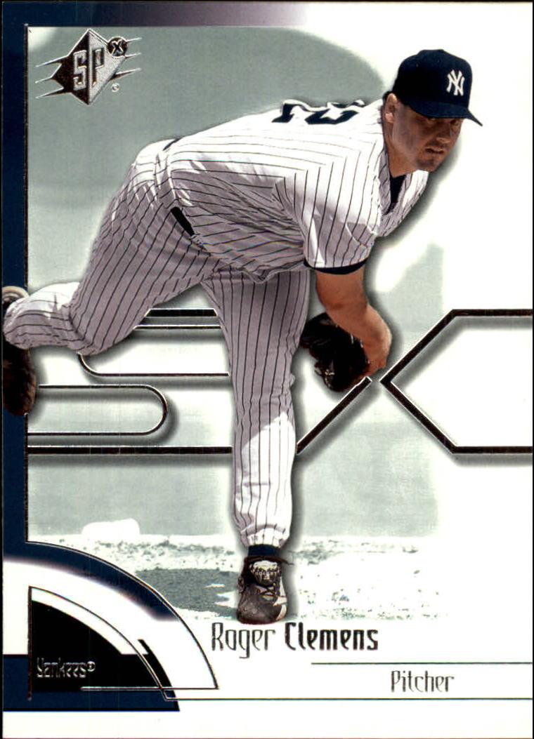 2002 SPx #38 Roger Clemens