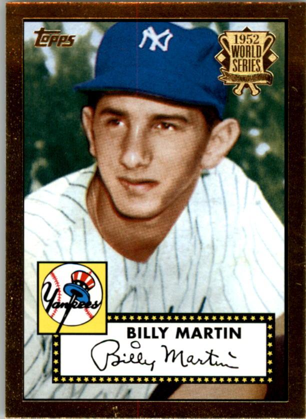 2002 Topps 1952 Reprints #52R6 Billy Martin