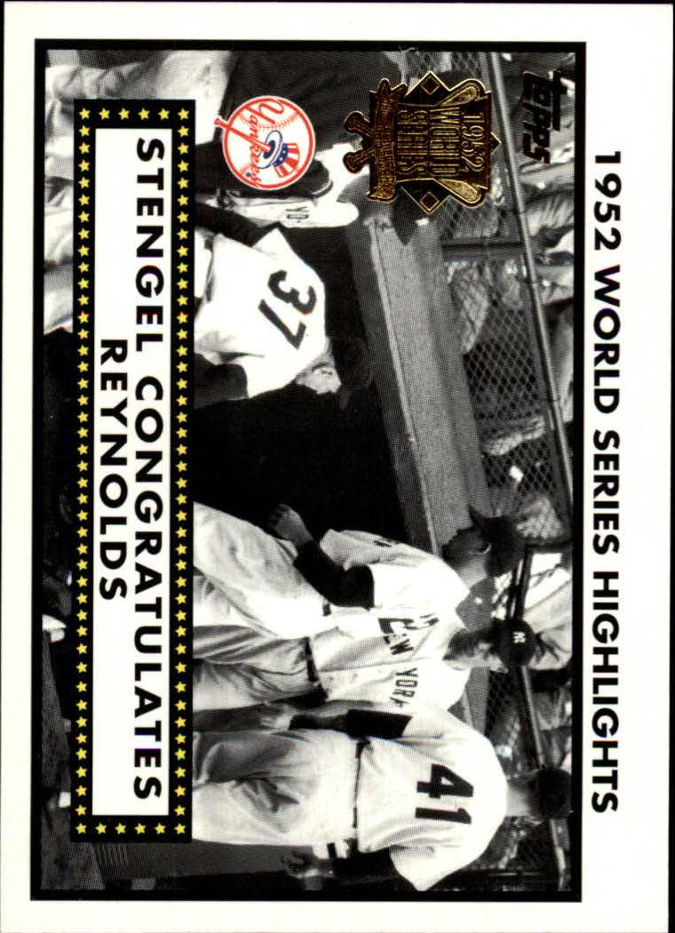 2002 Topps 1952 World Series Highlights #52WS6 Stengel/Reynolds 2