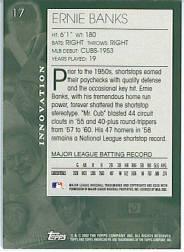 2002 Topps American Pie #17 Ernie Banks back image